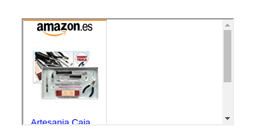 Imagen del código de amazon con el scroll desagradable