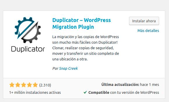 migrar wordpress plugin