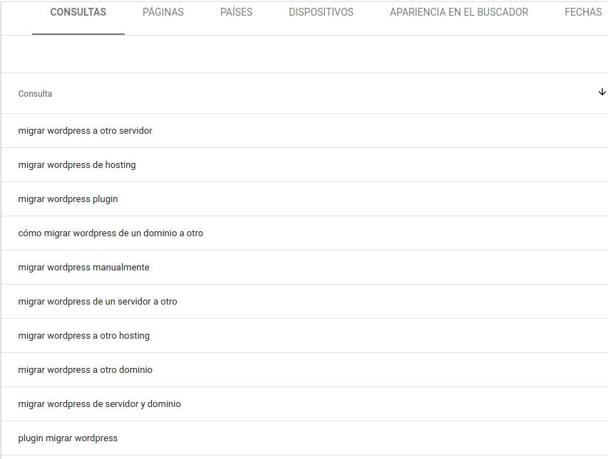 usar google search console para detectar palabras clave de oportunidad
