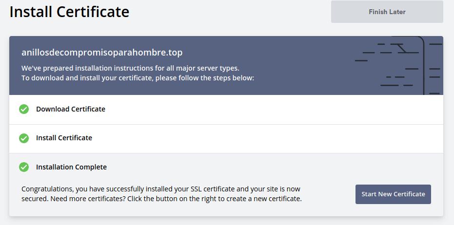 certificado ssl gratis para namecheap