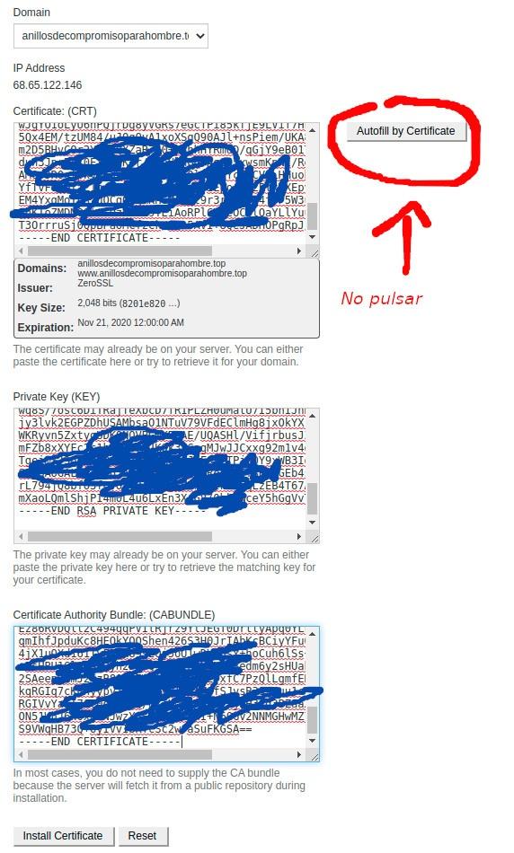 instalar certificado ssl manualmente